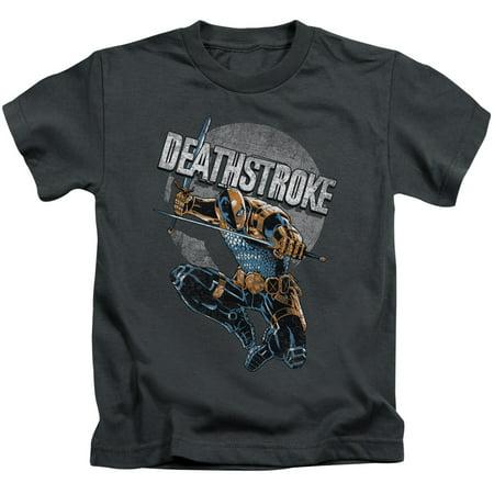 Jla Deathstroke Retro Little Boys Juvy Shirt - Boys Retro