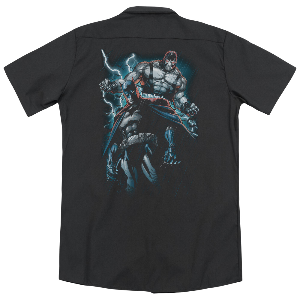 Batman Evil Rising (Back Print) Mens Work Shirt by Trevco