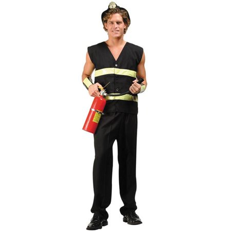 Plus Size Fire Fighter Male Costume - image 1 of 1