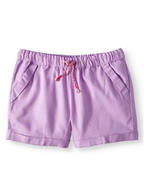 Wonder Nation Girls 4-18 & Plus Printed Pull-on Short, 2PK