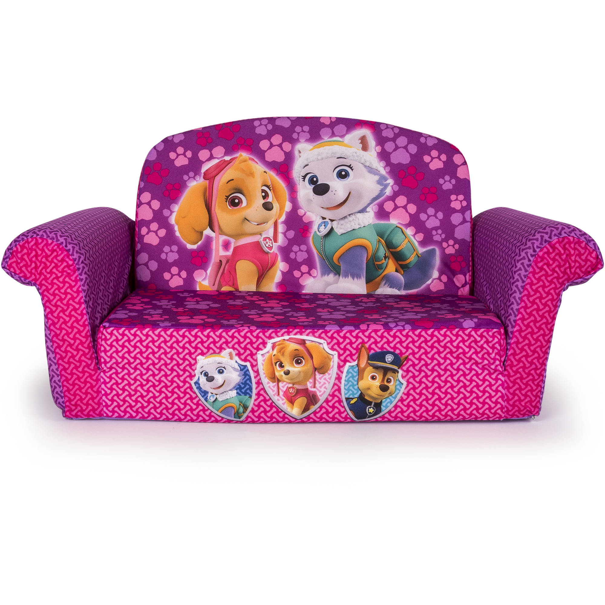 marshmallow 2 in 1 flip open sofa paw patrol pink edition