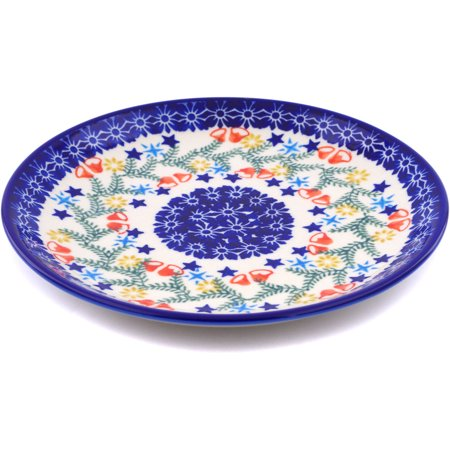 Polish Pottery 7½-inch Dessert Plate (Wreath Of Bealls Theme) Hand Painted in Boleslawiec, Poland + Certificate of Authenticity 2 Hand Painted Plates