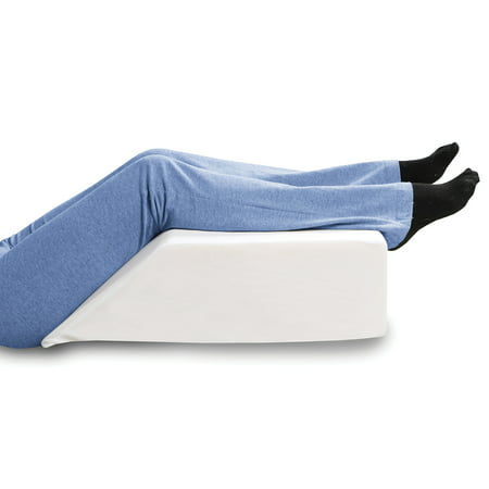 Elevated Leg Wedge Support Pillow -Relieves Back/Sciatica Pain, Surgical or Injury Recovery, Improves Circulation, Helps Reduce Leg/Ankle Swelling -Premium Memory Foam 17