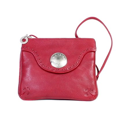 Western Wallet Womens Pebbled Calf Leather Zip Closure H846-12 (Italian Pebble Calf Leather)