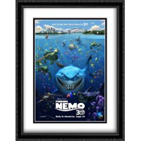 Finding Nemo 3D 28x36 Double Matted Large Large Black Ornate Framed Movie Poster Art Print