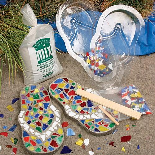 c163d4058c12 Milestones Mosaic Flip-Flop Stepping-Stone Kit - Walmart.com