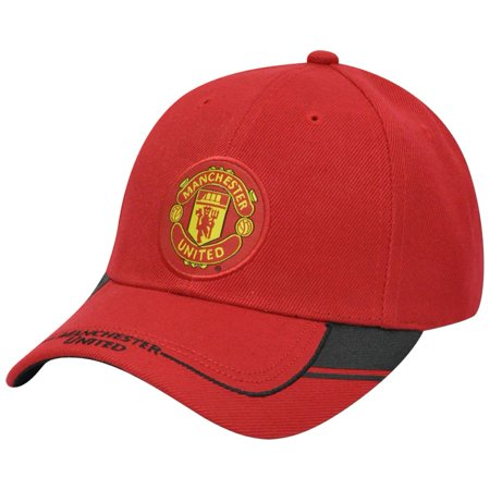 Rhinox Red Devils Manchester United FC Curved Bill Soccer Constructed  - Soccer Hats