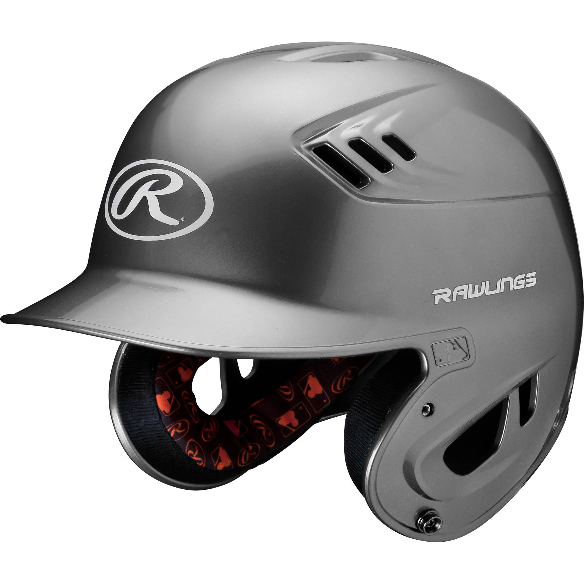 Rawlings Senior R16 Series Metallic Helmet, Silver