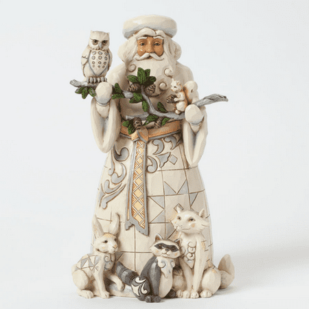 Jim Shore 4040900 Woodland Santa with - Jim Shore Halloween Figurines
