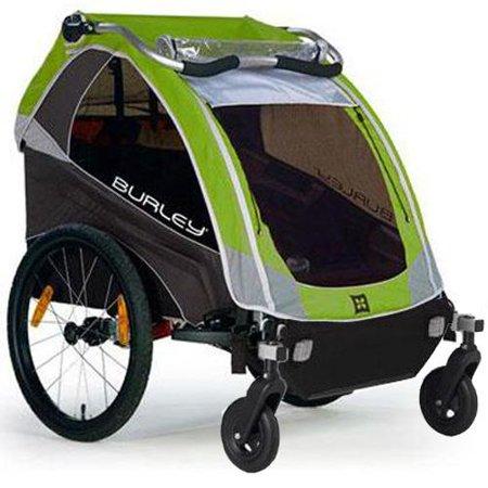 burley d lite green trailer with 2 wheel stroller kit. Black Bedroom Furniture Sets. Home Design Ideas