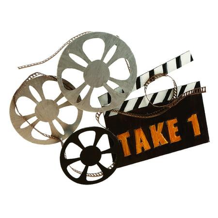 Metal Movie Wall Decor Takes You To Film Shooting - Movie Reels Decor