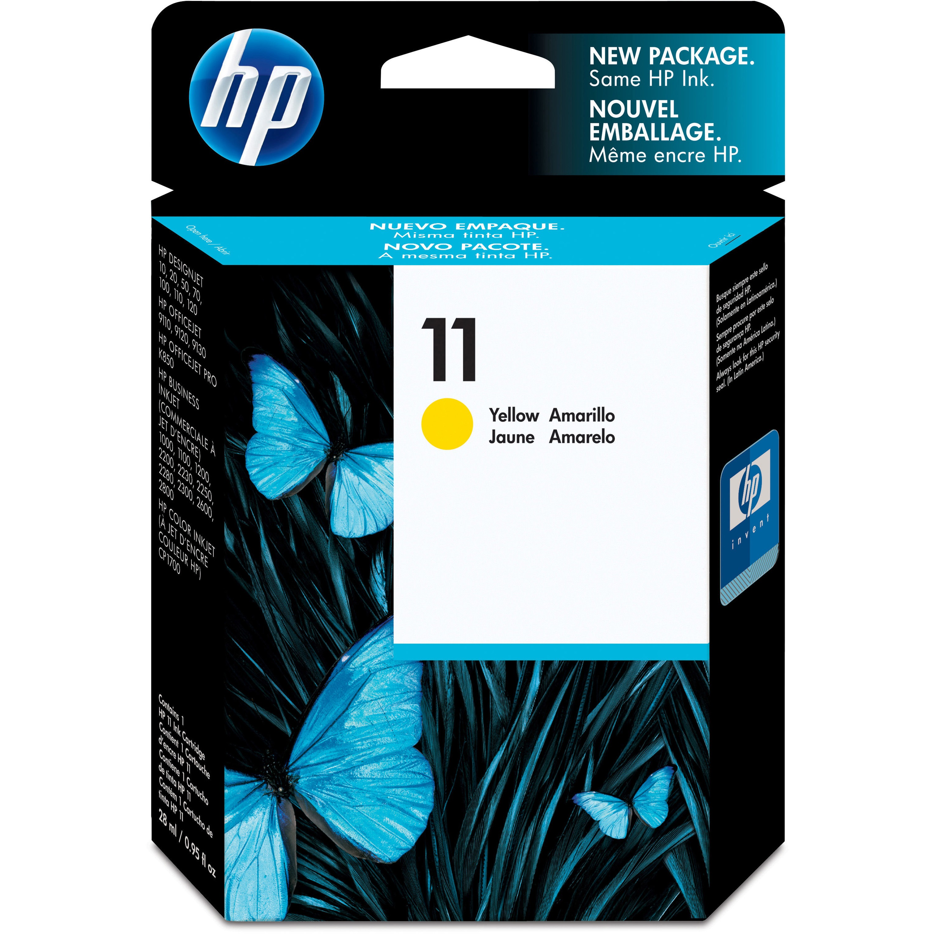 HP, HEWC4838A, C4836A/37A/38A Ink Cartridges, 1 Each