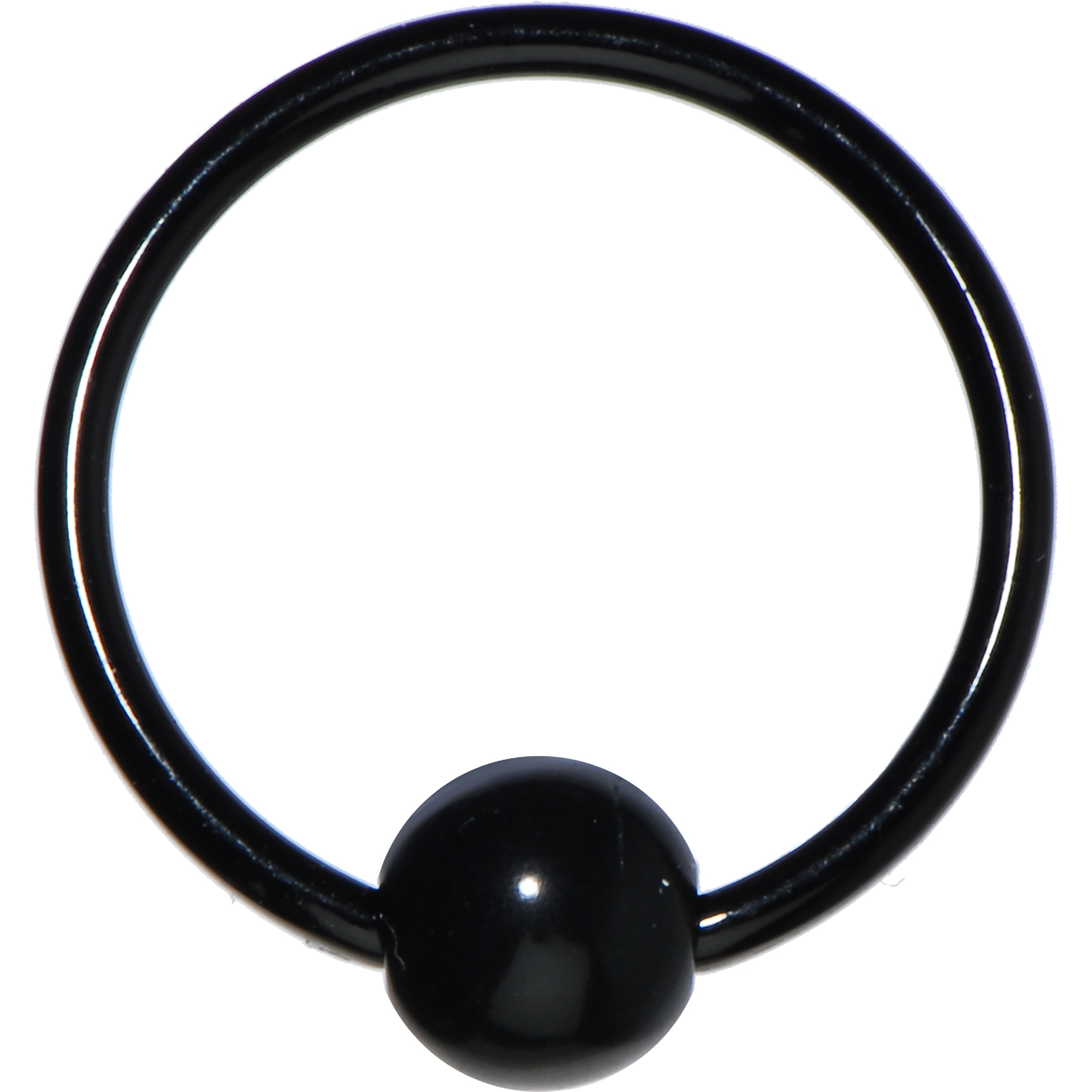 Body Candy Black Acrylic 5mm Ball BCR Captive Ring 16 Gauge 3/8""