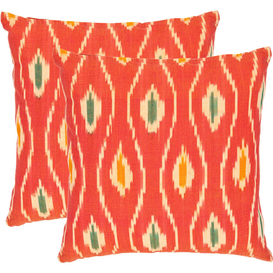 Safavieh Iris Red Pillow, Set of 2