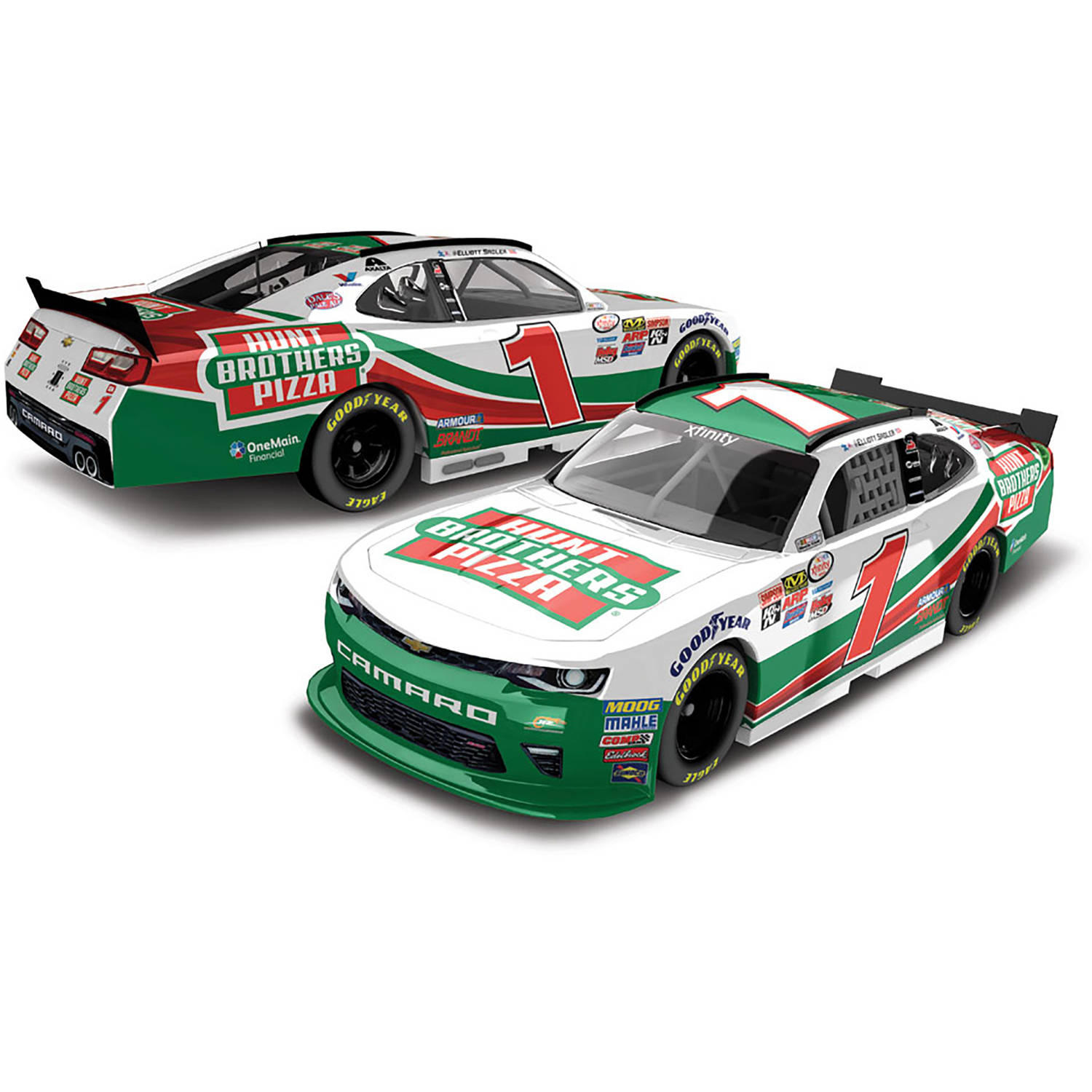 Lionel Racing Elliott Sadler #1 Hunt Brothers Pizza 2017 Chevrolet Camaro 1:64th Scale Hard-Top Official Diecast of NASCAR