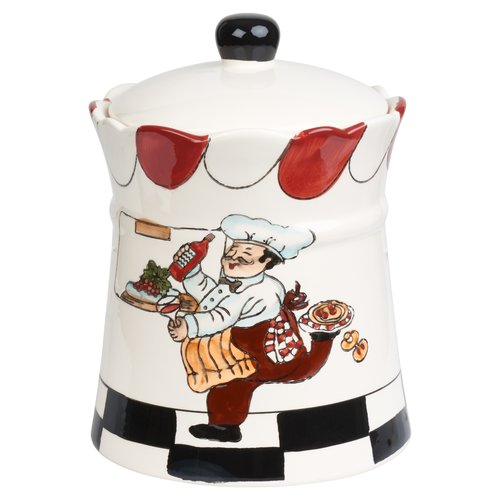 Click here to buy Lorren Home Trends Chef Ceramic 2.35 qt. Cookie Jar.