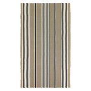 Couristan Bar Harbor Stripe Indoor/Outdoor Area Rug - Buttered Rum