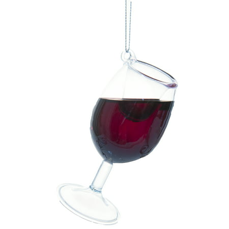 Ganz Happy Merlot 4 Inch Merlot Wine Glass Ornament w/ Faux Wine ()