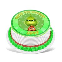 The Grinch Edible Cake Image Topper Personalized Birthday Party 8 Inches Round