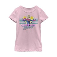 Marvel Girls' Captain Marvel Daring Hero T-Shirt