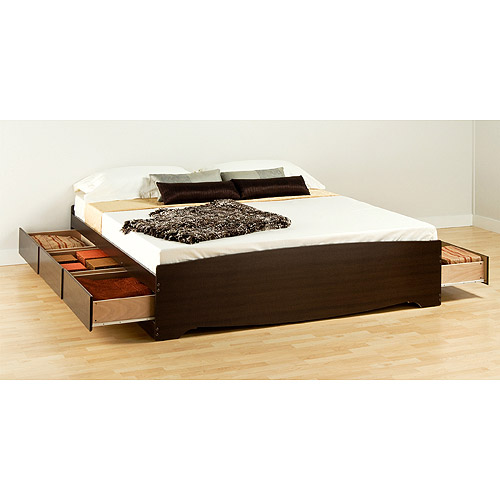 Edenvale King Platform Storage Bed (Carton A), Espresso by Prepac