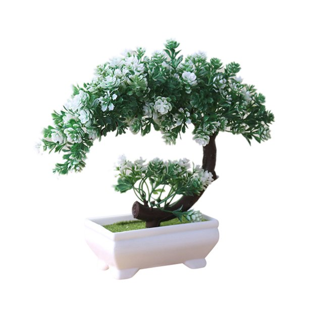 Sanwood Artificial Bonsai Simulation Fake Potted Bonsai Tree Artificial Plant Desk Ornament Home Decor Walmart Com Walmart Com