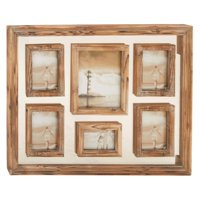Decmode Wood Wall Photo Frame, Multi Color