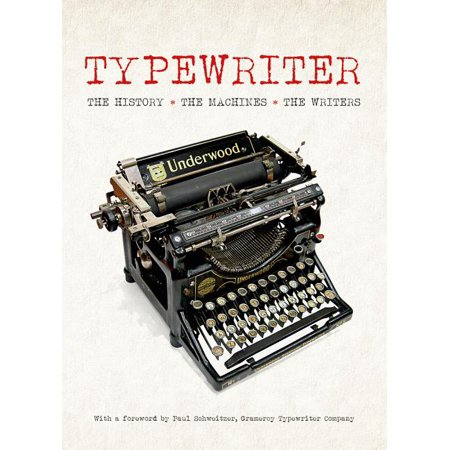 Typewriter: The History - The Machines - The Writers (Hardcover) Filled with unique information and archival photos of writers at their typewriters-- Typewrite is a fascinating look at one of the great inventions in history.  Personal computers may have replaced the typewriter in most homes and offices, but the venerable writing machine is currently staging a comeback. From portable models that hipsters are snapping up to Tom Hank's bestselling app that recreates the sound of a manual typewriter on a modern tablet, the typewriter has never been so hot. This celebration of the typewriter covers what a platen knob is, why QUERTY won out over all the other arrangements of keys and which others loved (or loathed) their typewriters.