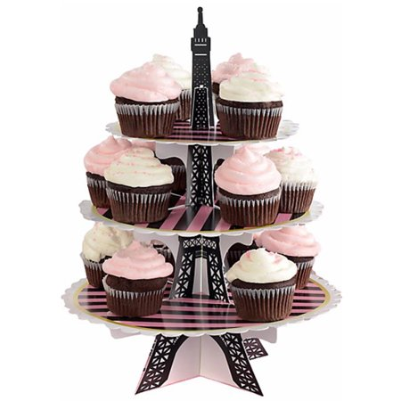 Bridal Shower 'A Day in Paris' 3-Tiered Cupcake Stand (1ct)