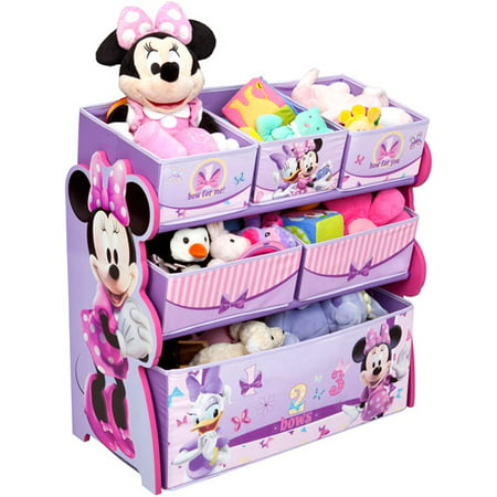 Disney multi bin toy organizer minnie mouse for Porte bebe toys r us
