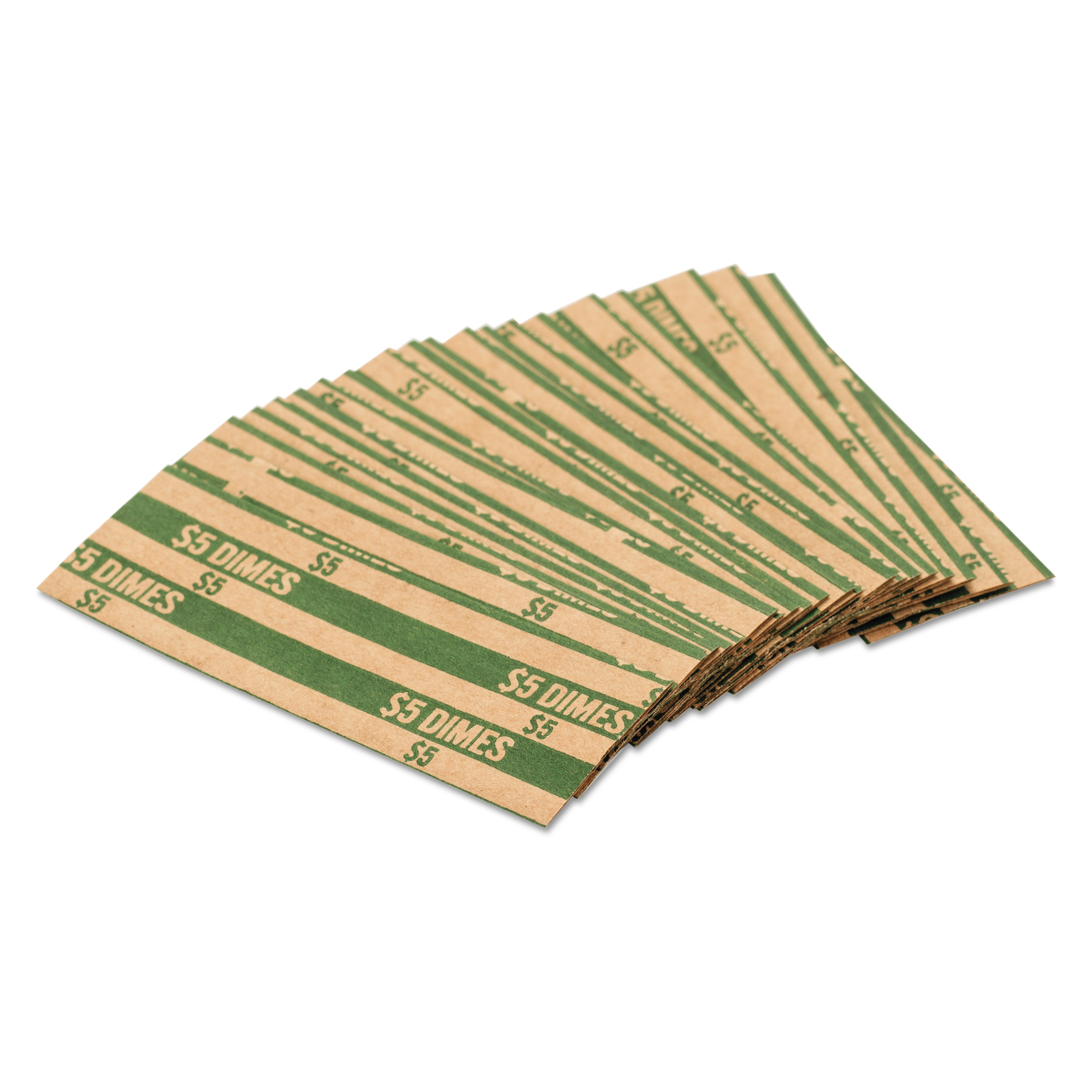 Coin-tainer Flat Coin Wrappers - Heavy Duty - Paper - Green (30010_40_1)