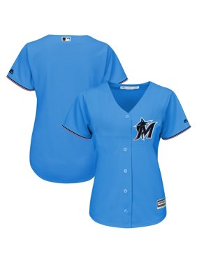 Miami Marlins Majestic Women's Alternate 2019 Official Cool Base Team Jersey - Blue Thunder