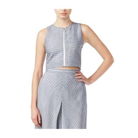 Rachel Roy Womens Crop Pullover Blouse denimcombo 0 - image 1 de 1