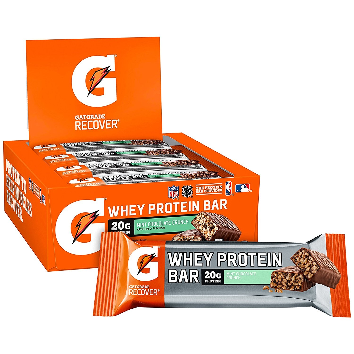 Gatorade Mini Chocolate Crunch Whey Protein Bar, 2.8 Oz.