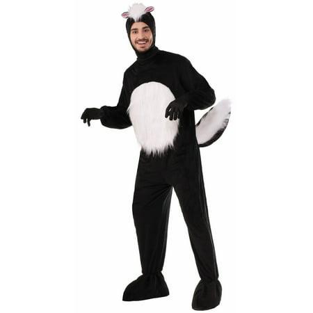 Halloween Plush Skunk Adult Costume - Skanky Halloween Costumes