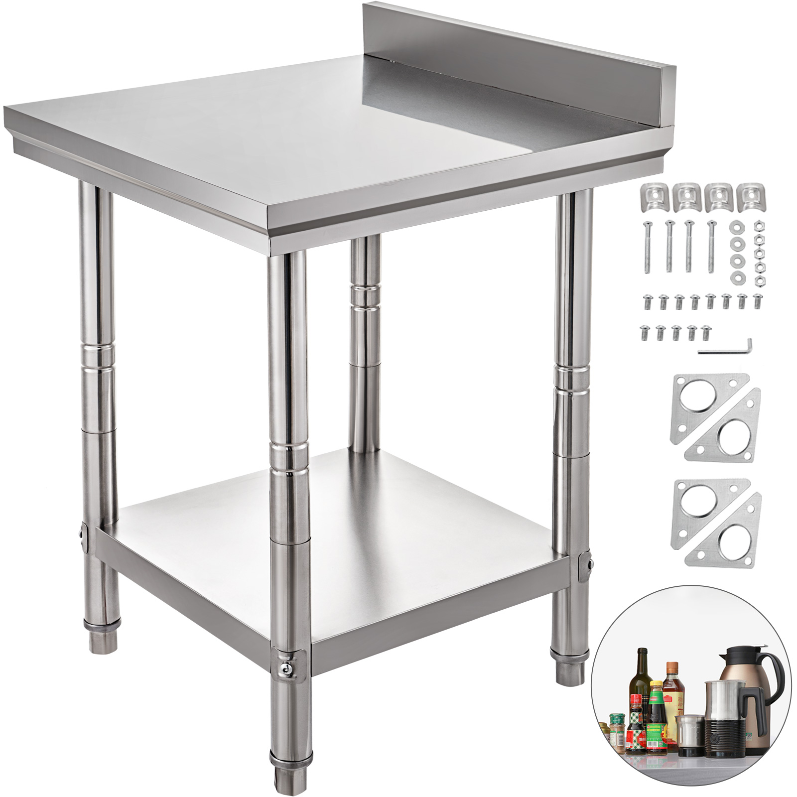 Details about  /30 x 48 In Stainless Steel Prep Work Table NSF Food Kitchen Commercial Durable