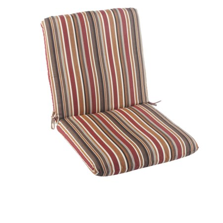 Casual cushion sunbrella brannon redwood striped hinged outdoor club chair cushion - Hinged outdoor cushions ...