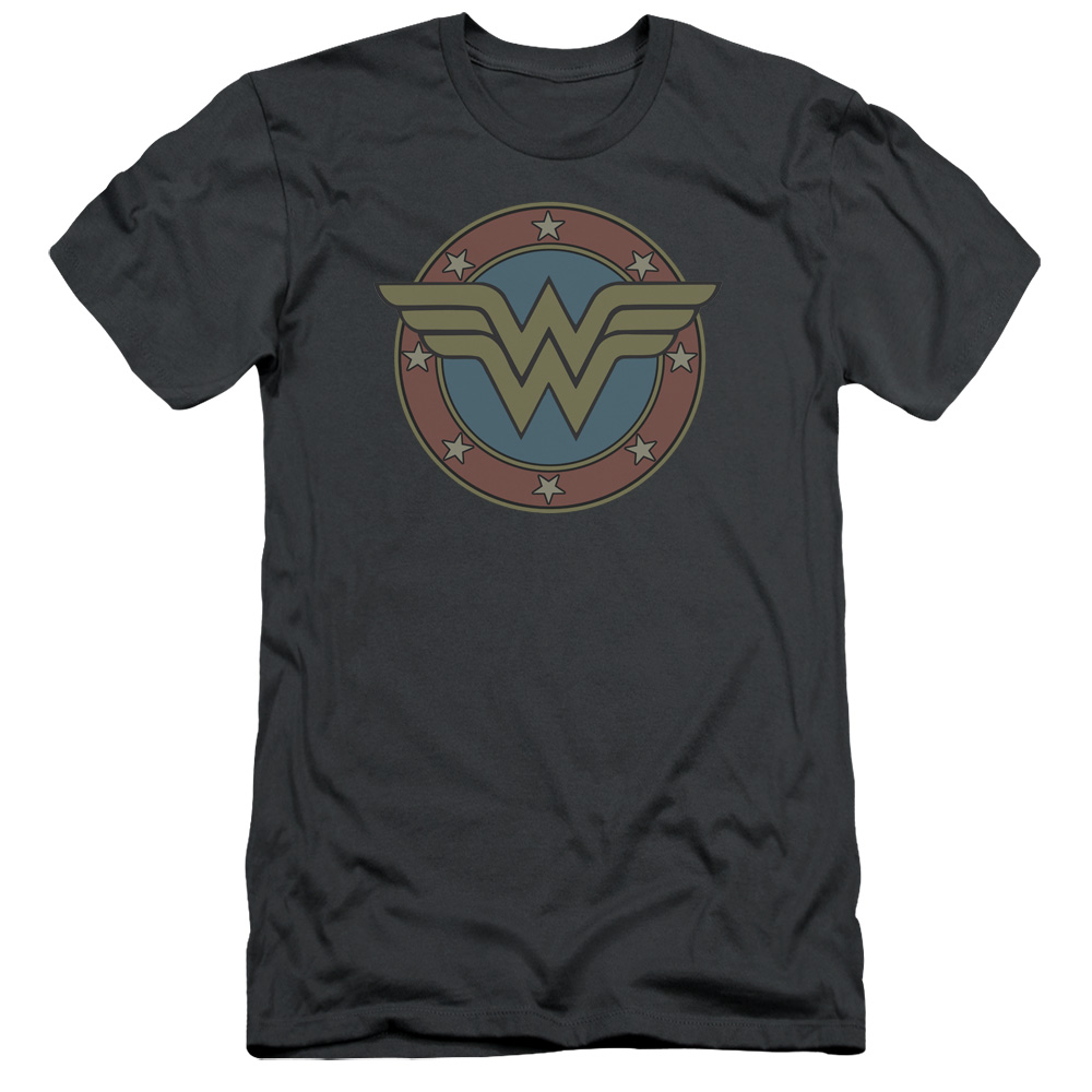 DC Comics Wonder Woman Vintage Emblem Mens Slim Fit Shirt