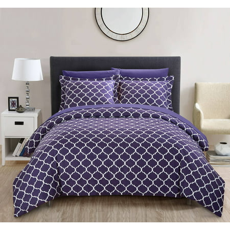 - Chic Home Finlay 3 Piece Reversible Duvet Cover Set