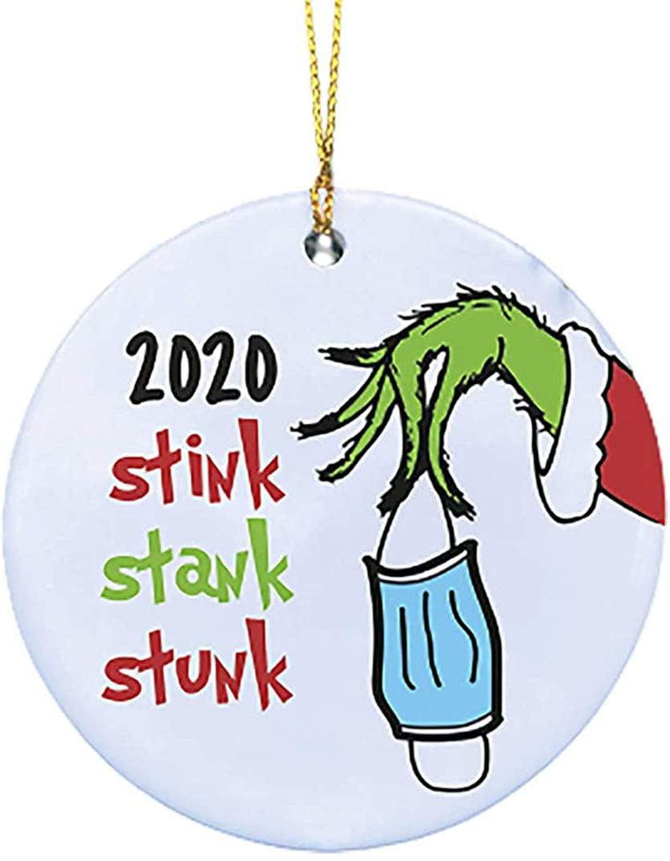Popeven 2020 Stink Stank Stunk Mask Ornament Grinch 2020 Mask Christmas Ornament Personalize Grinch Grinch Ornament Grinch Hand Christmas Ornament Ceramic Walmart Com Walmart Com
