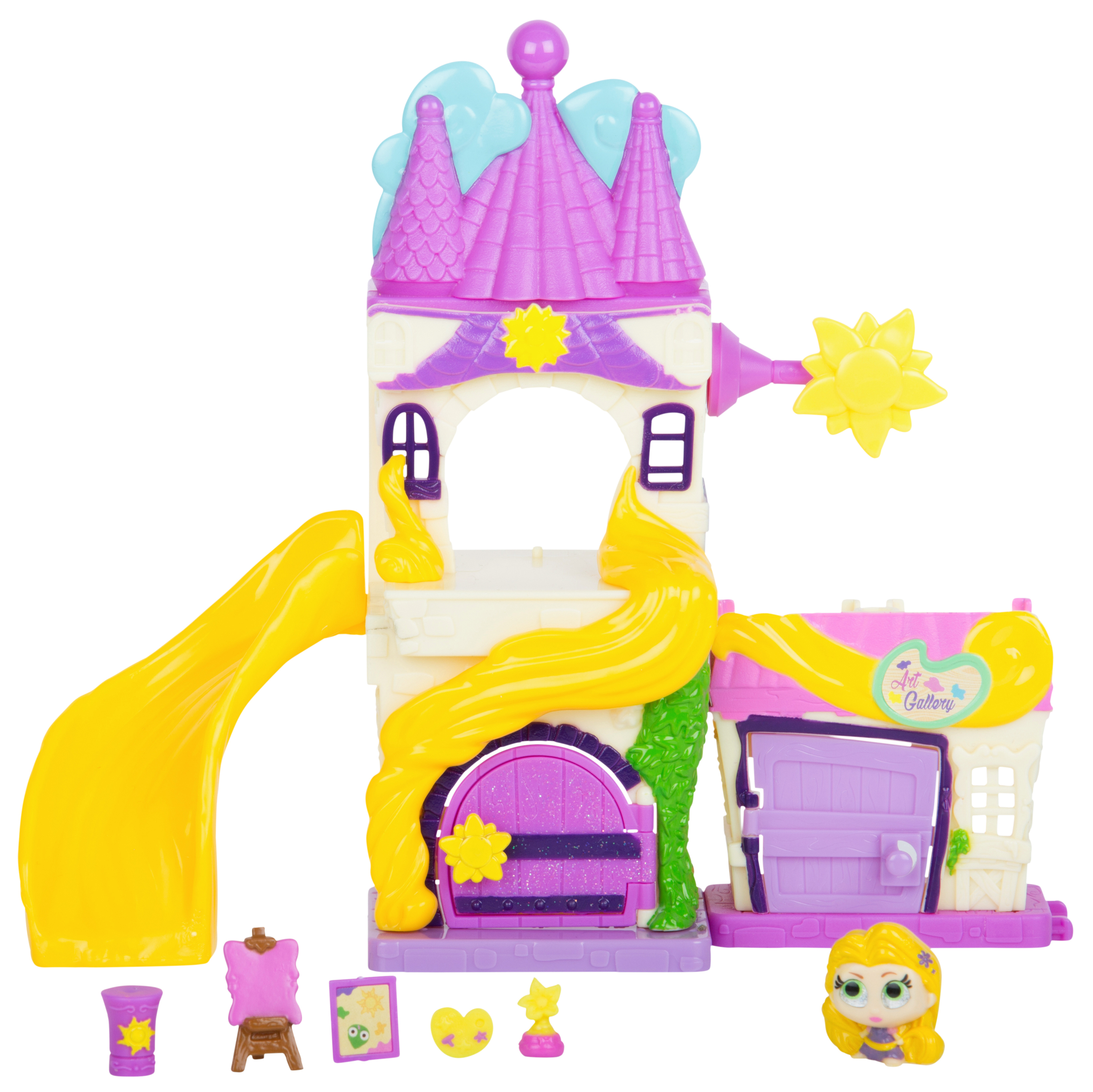 Disney Doorables Mini Collectible Figures Multi Stack Playset, Tangled