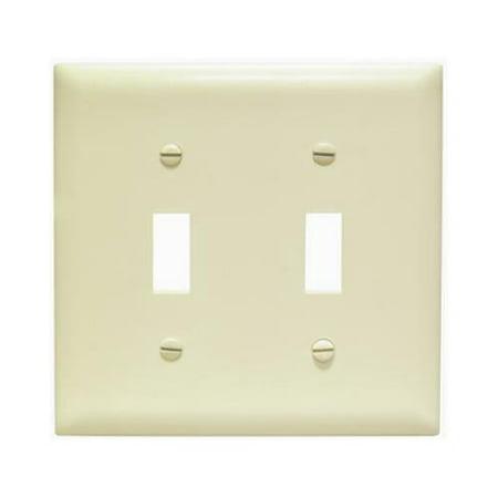 Pass & Seymour SPO2IU Ivory 2-Toggle Oversize Wall Plate