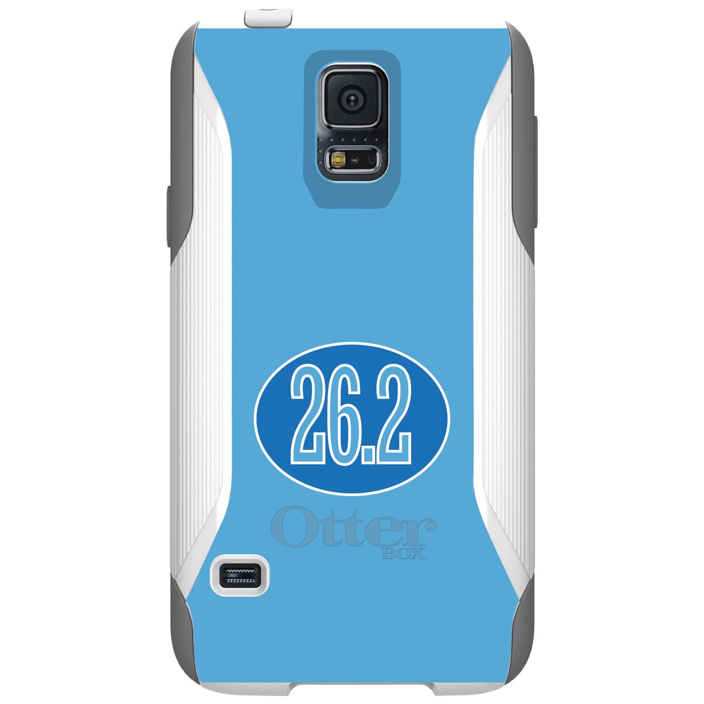 CUSTOM White OtterBox Commuter Series Case for Samsung Galaxy S5 - Blue 26.2 Oval Marathon Run