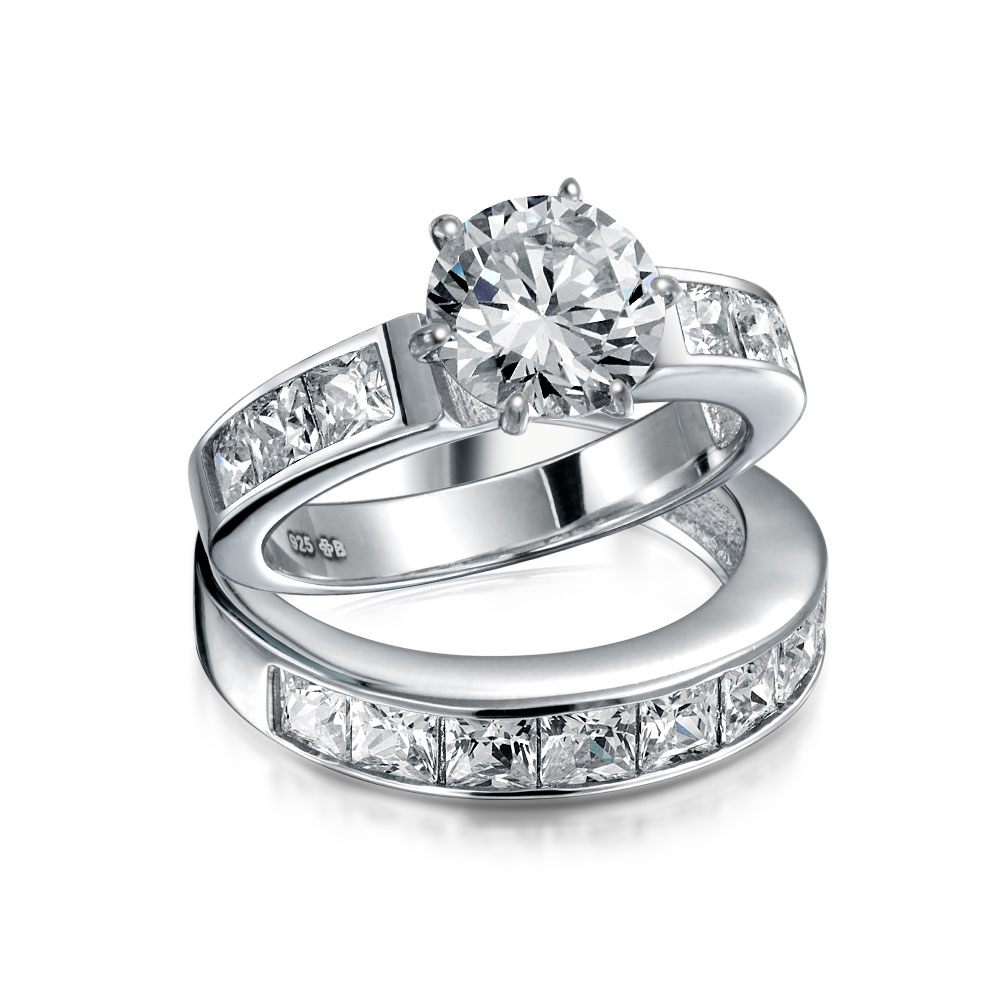 bling jewelry 925 silver 2ct cz princess engagement
