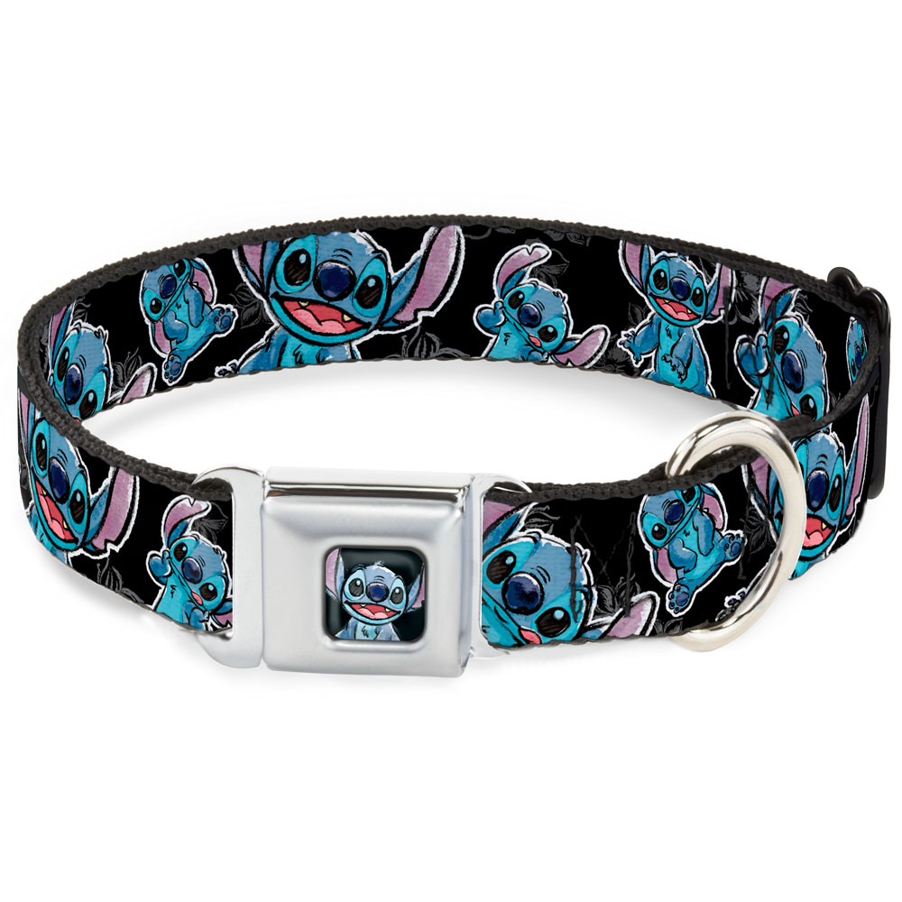 Lilo & Stitch Sketch Dog and Cat Collar, Black