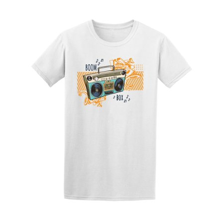 Cool Boom Box With Graffiti  Tee Men's -Image by Shutterstock ()