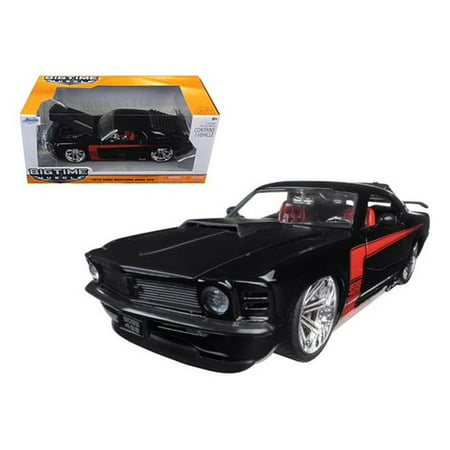 Jada 90348bk 1970 Ford Mustang Boss 429 Black 1-24 Diecast Model Car - image 1 de 1