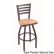 Holland Bar Stool Company Steel Frame and Oak Bar Stool by Overstock