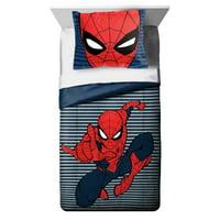 Marvel Spider-Man Stripes Reversible Twin/Full Comforter Set