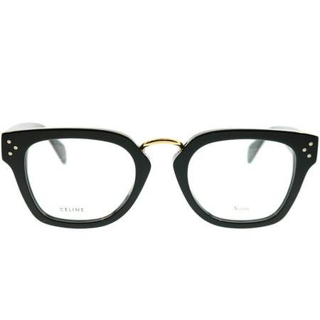22a1391c8aac New Celine 41351 Womens Ladies Designer Full-Rim Black   Gold Premium  Segment Red Carpet Style Frame Demo Lenses 48-21-145 Eyeglasses Glasses -  Walmart.com